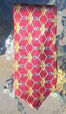 Byron & Roe mens silk necktie gold mesh medallion on burgundy