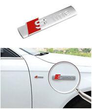 1 Stück S-Line Sline Logo Emblem Schriftzug für Audi Q5 A8 A3 A6 RS4 R8 A1 A7