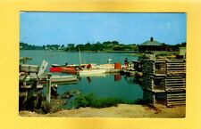 Kennebunkport,Maine,Me View along the river, lobster traps, boats