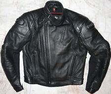 "MENS BLACK LEATHER MOTORCYCLE JACKET MEDIUM 'HEIN GERICKE' CHEST 40"" UK /50 EURO"