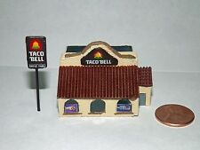 Z Scale Taco Bell model Resin Unpainted 1:220 scale Fast Food Building Train