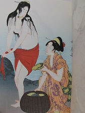 JAPANESE WOODBLOCK PRINT Collection UKIYOE Utamaro ORIGINAL Rare WOMEN Sex VTG