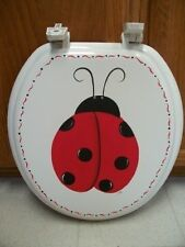 HAND PAINTED LADY BUG TOILET SEAT/STANDARD/NEW ITEM