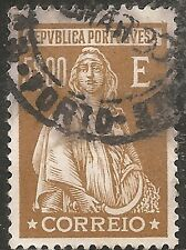 "Portugal Stamp - Scott #420/A85 5e Brown Olive ""Ceres"" Used/LH 1926"