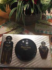 Lancome Magie Noire Eau de Toilette Dusting Powder 1oz Perfume Oil Huile VINTAGE