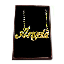 Gold Plated Name Necklace - ANGELA - Gift Ideas For Her - Pendant Girlfriend