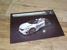 Photo Carte Officielle / Promo Card PEUGEOT Fractal Concept Car 2016 //