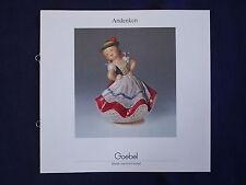 Andenken - Hände machen Goebel -  Prospekt von Goebel 1985