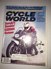 Cycle World Magazine Suzuki's GS1100S Katana February 1983 032017NONRH