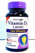 Natrol Vitamin D3 5,000IU 90 Fast Dissolve Tablets Healthy Bones 5000 IU