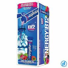 Zipfizz Blue Raspberry 20 ct. HEALTHY energy drink-mix vitamin B12 - NEW