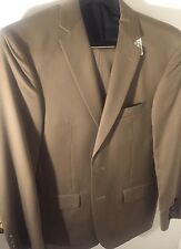 38s NEW Jobs A bank Suit Slim Fit Tan 2 Button Travelers Collection Double Vent