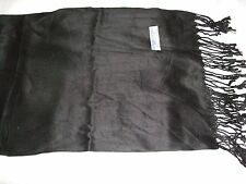 New Thai  BLACK Pashmina/shawl/wrap/scarf 100% Silk & Cashmere