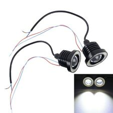 2 PCS 2.5 inch DC12-24V 10W 900LM 6500K Car Angel Eyes Fog Lamp Foglight, Cable