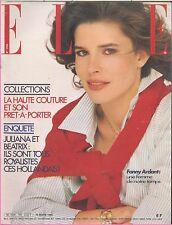 ▬►Elle 1783 (1980) FANNY ARDANT_COLLECTIONS MODE FASHION HAUTE COUTURE