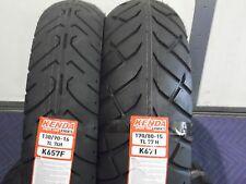 "TWO TIRE SET MOTORCYCLE TIRES 130/90-16 FRONT 170/80-15 REAR  K657 K671 16"" 15"""
