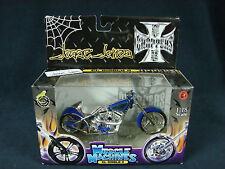 West Coast Choppers Muscle Machines Jesse James 1:18 Diecast El Diablo II NEW