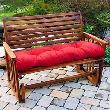 Porch Swing Cushion Glider Bench Seat Padding 44 in. Tufted Indoor Outdoor Patio