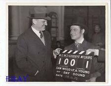 Director Sam Wood Robert Donat VINTAGE Photo Good-Bye Mr. Chips candid on set