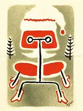 DIPINTI DISEGNI EAMES CHAIR MODERNO ARREDAMENTO NATALE CARD Poster lv3036