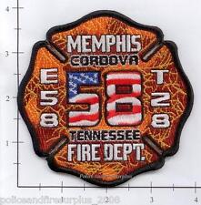 Tennessee - Memphis Engine 58 Truck 58 TN Fire Dept Patch  Cordova