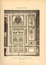 """Gros caractères 1905 """"le style louis xv1"""" ecole militaire-salon de l'intérieur"""""""