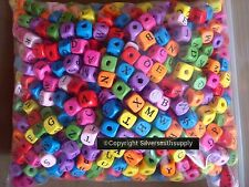 Wooden alphabet beads 1190 piece lots mixed colors great wood beads 10x10 WB012