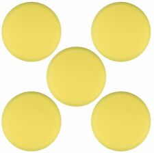 "5pk 9"" Yellow Foam Buffing Pad Hook and Loop - Heavy Cut"