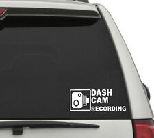 Dash Cam Recording Sticker. Pair.  Taxi Van Lorry Car