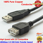 Hi-Speed USB 2.0 Cable Type A Male to Type A Female Extention Cord- 3FT (2-Pack)