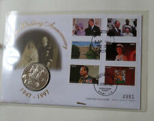 First Day Coin Cover - Golden Wedding Anniversary HM Queen Elizabeth II Uganda