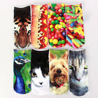 NEW 1Pair Unisex Women Casual Low Cut Ankle Socks Cotton 3D Printed Animals