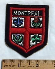 MONTREAL Quebec Canada Coat of Arms Crest Souvenir Adhesive Patch Badge