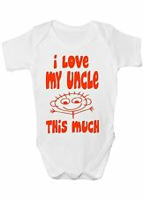 I Love My Uncle This Much Babygrow Vest Baby Clothing Funny Gift