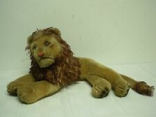 "VINTAGE STEIFF LAYING DOWN LEO THE LION ~ 9"" HIGH x 19"" WIDE"