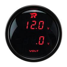 52mm Dual Digital Display Voltmeter Volt 12V Gauge Meter RED LED