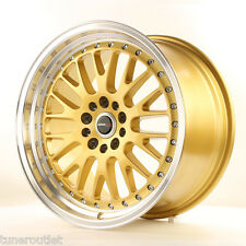 "JAPAN RACING JR10 18"" x 9.5 ET40 5x112/114.3 GOLD WIDE ALLOYS RIMS WHEELS Y2662"
