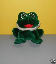 """Chubby 10"""" RUSS Peepers Smooches Kissing Sounds Frog w/ Big Red Lips Plush"""