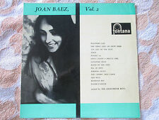 Joan Baez ‎– Joan Baez Vol. 2 Fontana ‎TFL 6025 Mono UK Vinyl LP Album