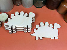 WOODEN STEGOSAURUS Shapes 12cm (x10) dinosaur wood cutouts crafts blank shape