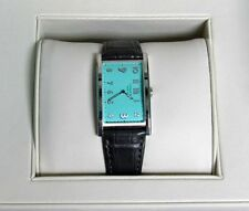 GORGEOUS TIFFANY & CO LADIES EAST WEST 2 HAND TIFFANY BLUE WATCH IN BOX