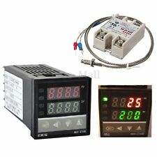 220V Digital PID REX-C100 Temperature Controller +max.40A SSR +K Thermocouple 1M