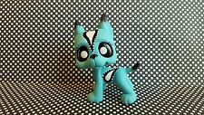 Great Dane Dog Aqua Paisley * OOAK Hand Painted Custom Littlest Pet Shop Repaint