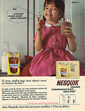 PUBLICITE ADVERTISING   1964   NESQUICK  boisson chocolatée