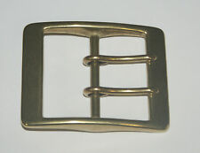 "SOLID BRASS BELT   BUCKLE WITH TWO PRONGS  TO TAKE A  2""  STRAP"