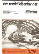 DDR Zeitschrift Modelleisenbahn Der Modelleisenbahner Heft 10 Oktober 1976