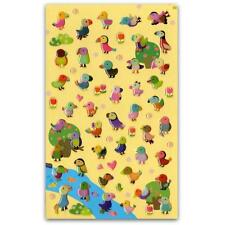 ✰ CUTE PUFFIN GEL STICKERS Sheet Bird Parrot Animal Scrapbook Puffy Sticker NEW