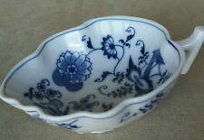 Blue Danube Leaf Shaped Handled Serving Dish Bowl