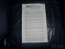 THE BEATLES OFFICIAL FAN CLUB RARE 1970 NEWSLETTER UPDATING WHAT THEY ARE UP TO