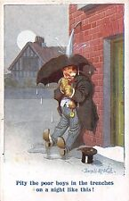 POSTCARD  COMIC   DONALD McGILL WWI  Drunk  Boys in the Trenches...